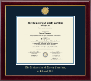 University of North Carolina Chapel Hill Diploma Frame - 23K Medallion Diploma Frame in Gallery