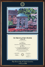 University of North Carolina Chapel Hill Diploma Frame - Campus Scene Diploma Frame in Williamsburg