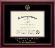 The University of Oklahoma Diploma Frame - Gold Embossed Diploma Frame in Gallery