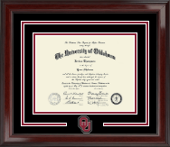 The University of Oklahoma Diploma Frame - Spirit Medallion Diploma Frame in Encore