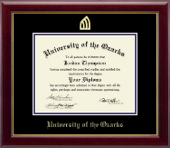 University of the Ozarks Diploma Frame - Gold Embossed Diploma Frame in Gallery