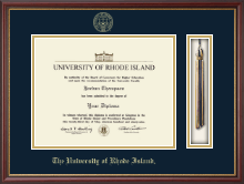 The University of Rhode Island Diploma Frame - Tassel Edition Diploma Frame in Newport