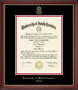 University of South Carolina Aiken Diploma Frame - Embossed Diploma Frame in Kensington Gold