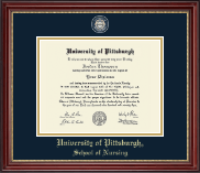 University of Pittsburgh Diploma Frame - Masterpiece Medallion Diploma Frame in Kensington Gold