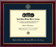 United States Merchant Marine Academy Diploma Frame - Gold Embossed Diploma Frame in Gallery