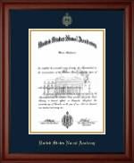 United States Naval Academy Diploma Frame - Gold Embossed Diploma Frame in Cambridge