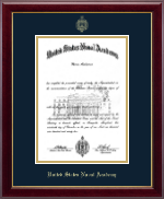 United States Naval Academy Diploma Frame - Gold Embossed Diploma Frame in Gallery
