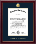 United States Naval Academy Diploma Frame - 23K Medallion Diploma Frame in Gallery