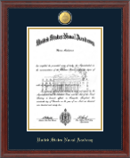 United States Naval Academy Diploma Frame - 23K Medallion Diploma Frame in Signature