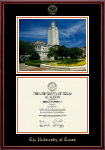 The University of Texas Austin Diploma Frame - Campus Scene Diploma Frame in Galleria