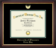 University of Wisconsin Green Bay Diploma Frame - Gold Embossed Diploma Frame in Regency Gold