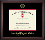 University of Wisconsin Madison Diploma Frame - Gold Embossed Diploma Frame in Regency Gold