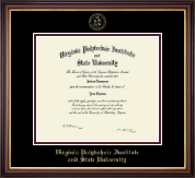 Virginia Tech Diploma Frame - Gold Embossed Diploma Frame in Regency Gold