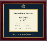 Wayland Baptist University Diploma Frame - Gold Embossed Diploma Frame in Gallery