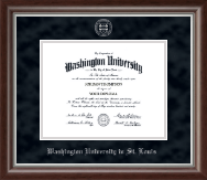 Washington University in St. Louis Diploma Frame - Silver Embossed Diploma Frame in Devonshire