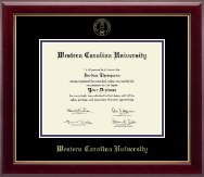 Western Carolina University Diploma Frame - Gold Embossed Diploma Frame in Gallery