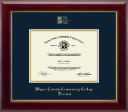 Wayne County Community College District Diploma Frame - Gold Embossed Diploma Frame in Gallery