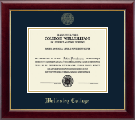 Wellesley College Diploma Frame - Gold Embossed Diploma Frame in Gallery