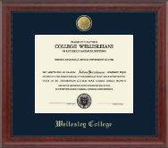 Wellesley College Diploma Frame - 23K Medallion Diploma Frame in Signature