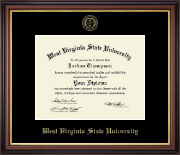 West Virginia State University Diploma Frame - Gold Embossed Diploma Frame in Regency Gold