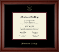 Westmont College Diploma Frame - Gold Embossed Diploma Frame in Cambridge