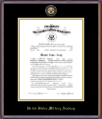United States Military Academy Certificate Frame - Masterpiece Medallion Commission Certificate Frame in Kensit Gold