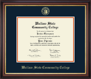 Wallace State Community College Diploma Frame - Gold Embossed Diploma Frame in Regency Gold