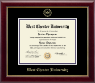 West Chester University Diploma Frame - Gold Embossed Diploma Frame in Gallery