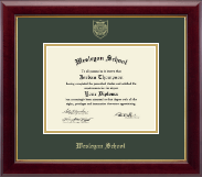 Wesleyan School at Norcross Diploma Frame - Gold Embossed Diploma Frame in Gallery