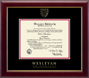 Wesleyan University Diploma Frame - Gold Embossed Diploma Frame in Gallery