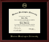 Western Washington University Diploma Frame - Gold Embossed Diploma Frame in Camby