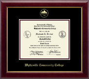 Wytheville Community College Diploma Frame - Gold Embossed Diploma Frame in Gallery