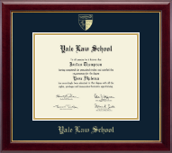 Yale University Diploma Frame - Gold Embossed Diploma Frame - Law School in Gallery
