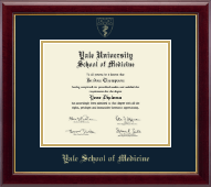 Yale University Diploma Frame - Gold Embossed Diploma Frame - School of Medicine in Gallery