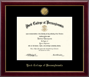 York College of Pennsylvania Diploma Frame - 23K Medallion Diploma Frame in Gallery