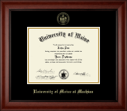 University of Maine Machias Diploma Frame - Gold Embossed Diploma Frame in Cambridge