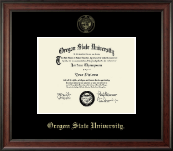 Oregon State University Diploma Frame - Gold Embossed Diploma Frame in Studio