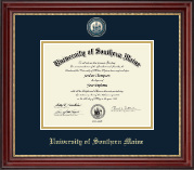 University of Southern Maine Diploma Frame - Masterpiece Medallion Diploma Frame in Kensington Gold