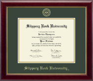 Slippery Rock University Diploma Frame - Gold Embossed Diploma Frame in Gallery