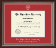 The Ohio State University Diploma Frame - Silver Embossed Diploma Frame in Devonshire