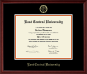 East Central University Diploma Frame - Gold Embossed Diploma Frame in Camby
