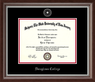Rutgers University, The State University of New Jersey Diploma Frame - Silver Embossed Diploma Frame in Devonshire