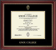 Knox College Diploma Frame - Gold Embossed Diploma Frame in Kensington Gold