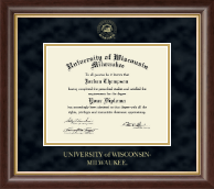 University of Wisconsin-Milwaukee Diploma Frame - Gold Embossed Diploma Frame in Hampshire