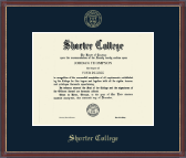 Shorter College Diploma Frame - Gold Embossed Diploma Frame in Kensit Gold