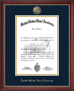 United States Naval Academy Diploma Frame - Masterpiece Medallion Diploma Frame in Kensington Gold