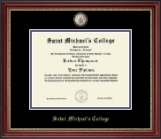 Saint Michael's College Diploma Frame - Masterpiece Medallion Diploma Frame in Kensington Gold