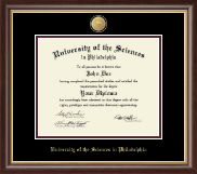 University of the Sciences in Philadelphia Diploma Frame - 23K Medallion Diploma Frame in Hampshire