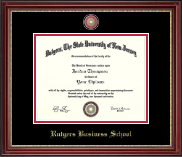 Rutgers University, The State University of New Jersey Diploma Frame - Masterpiece Medallion Diploma Frame in Kensington Gold
