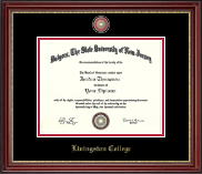 Rutgers University Diploma Frame - Masterpiece Medallion Diploma Frame in Kensington Gold